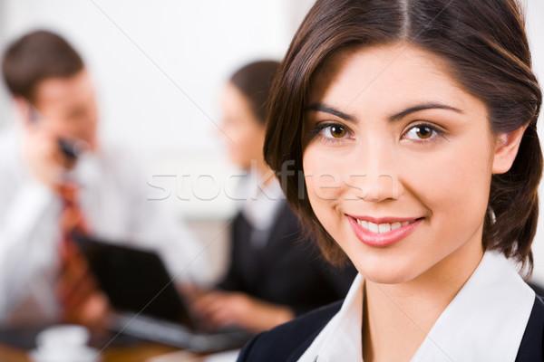 лице секретарь красивой люди бизнеса служба Сток-фото © pressmaster