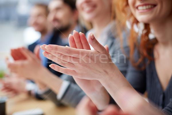 Ottimo foto uomini d'affari mani conferenza Foto d'archivio © pressmaster