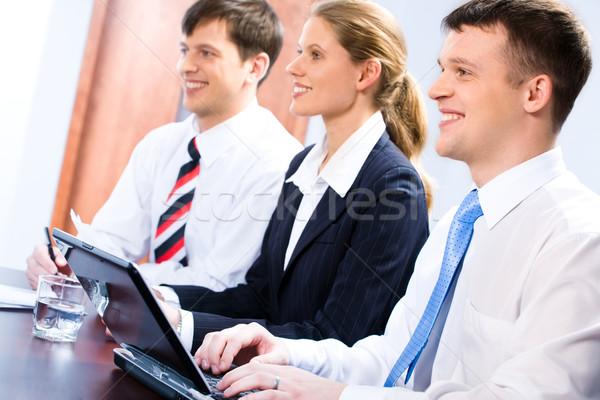 成熟した 学生 3  学生 座って ストックフォト © pressmaster