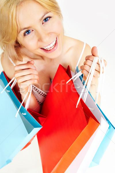 Stok fotoğraf: Fotoğraf · mutlu · kadın · renkli · kadın
