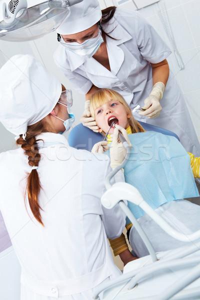 Zdjęcia stock: Stomatologicznych · zdrowia · obraz · lekarza · dziewczynka · biuro