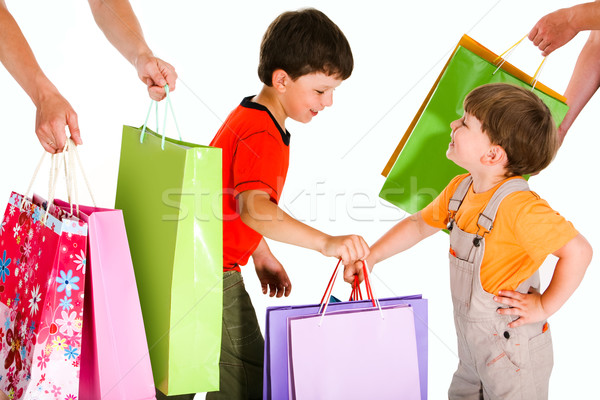 Stock photo: Little shoppers