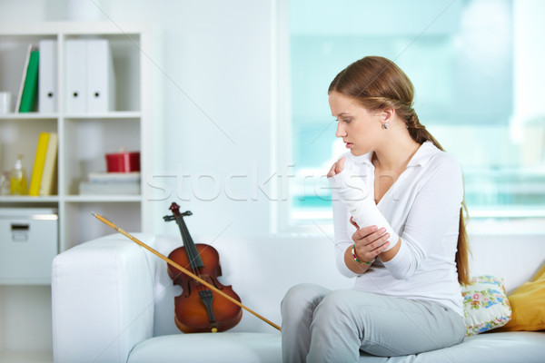 Unable violinist Stock photo © pressmaster