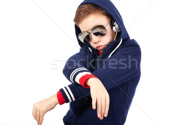 Teen rapper portrait cool Kid comme Photo stock © pressmaster