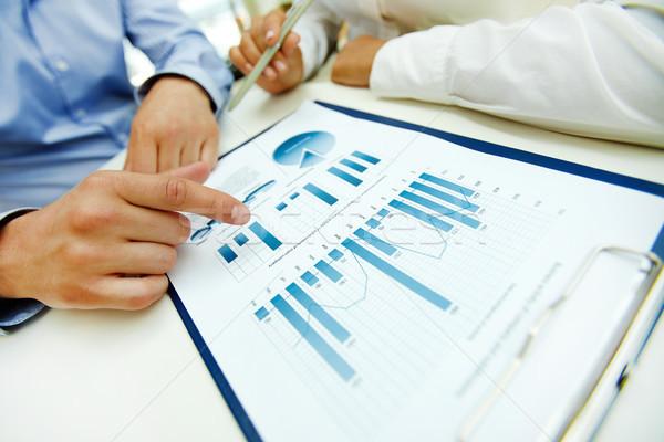Photo stock: Graphiques · graphiques · gens · d'affaires · travail