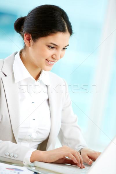 事務員 垂直 画像 ポジティブ オフィス インターン ストックフォト © pressmaster