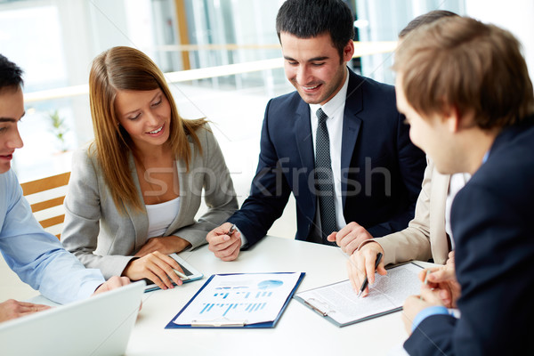 Zdjęcia stock: Obraz · dokumentów · spotkanie