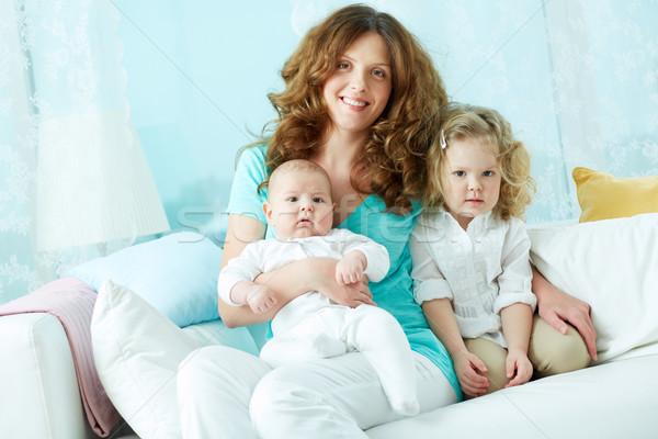 Felice maternità ritratto madre cute Foto d'archivio © pressmaster