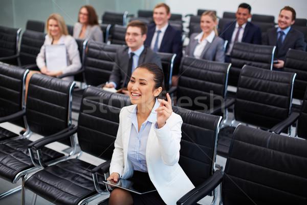 компетентный деловая женщина изображение деловые люди сидят Сток-фото © pressmaster