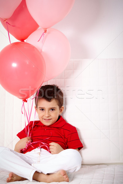 Lad with balloons Stock photo © pressmaster