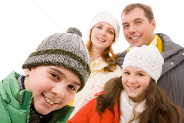 ストックフォト: 幸せ · 若者 · 肖像 · 男 · 姉妹 · 両親