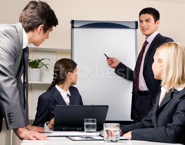 Сток-фото: обсуждение · фото · успешный · бизнесмен · чтение · лекция