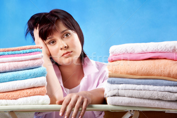 Unhappy housewife Stock photo © pressmaster