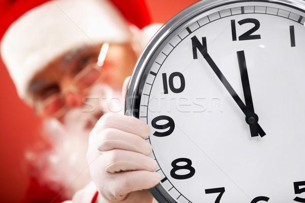 Cinco Navidad foto reloj Foto stock © pressmaster