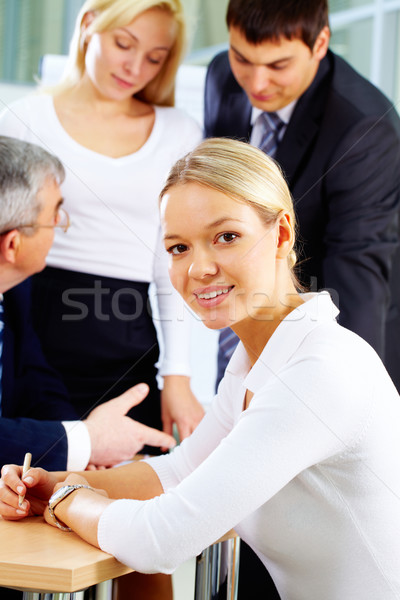 Stock photo: Young office worker
