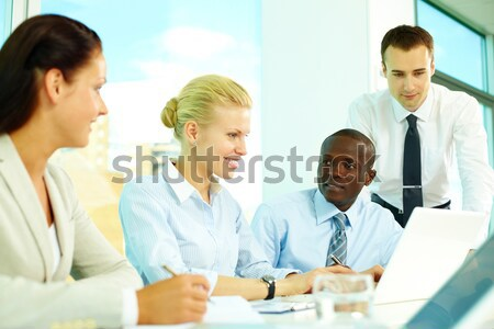 Stockfoto: Vergadering · afbeelding · collega's · business · man · zakenman