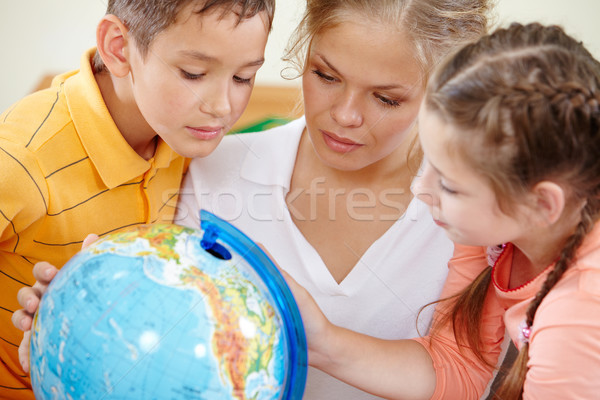 Studying geography Stock photo © pressmaster