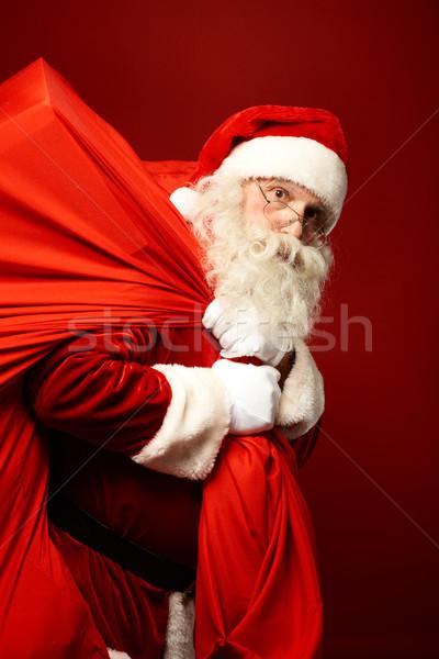 Photo stock: Lourd · cadeaux · portrait · énorme · rouge