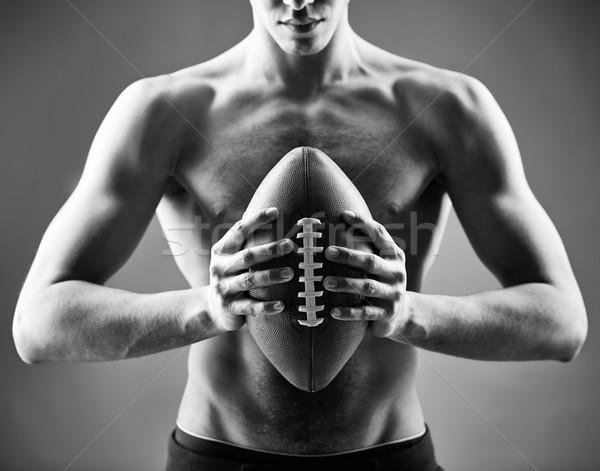 Rugby gracz topless człowiek Zdjęcia stock © pressmaster