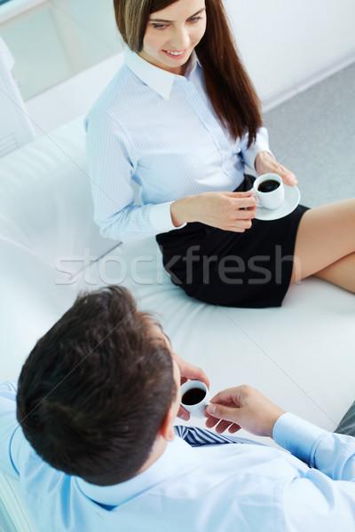 Friendly conversation Stock photo © pressmaster