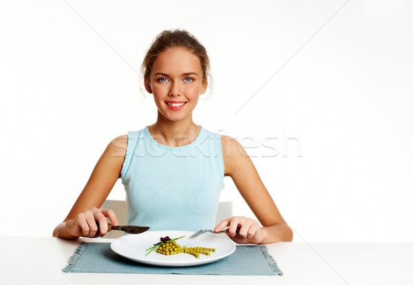 Healthy food eater Stock photo © pressmaster