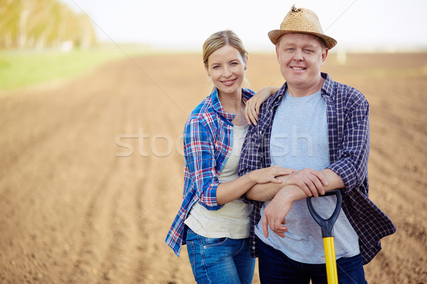 Farmers on the field Stock photo © pressmaster