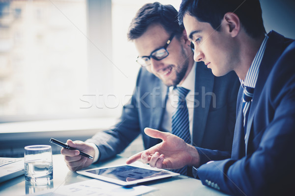 Stock photo: Discussing project