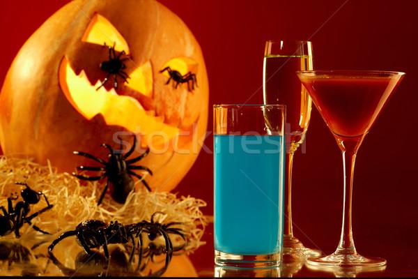 Venenoso bebidas imagen gafas colorido calabaza de halloween Foto stock © pressmaster