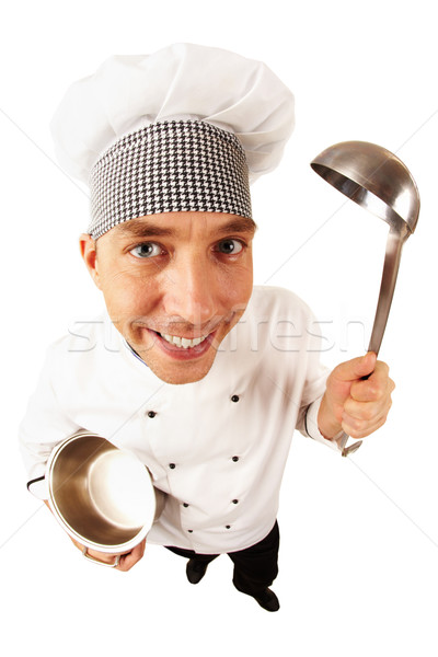 Cook uniforme portrait bel homme regarder caméra Photo stock © pressmaster