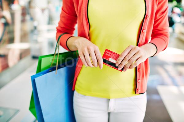 Shopper with discount Stock photo © pressmaster