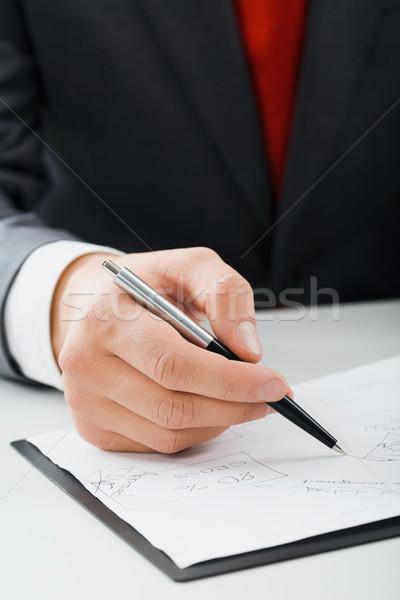 Male hand writing  Stock photo © pressmaster