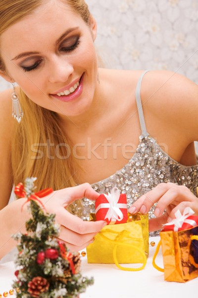 Preparing presents Stock photo © pressmaster