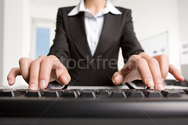 Typing  Stock photo © pressmaster