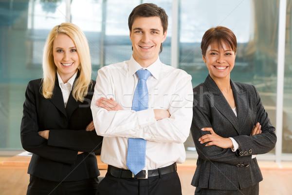 Vriendelijk groep afbeelding vrolijk collega's Stockfoto © pressmaster