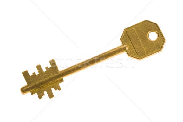 Stok fotoğraf: Metal · anahtar · görüntü · beyaz · iş · dizayn