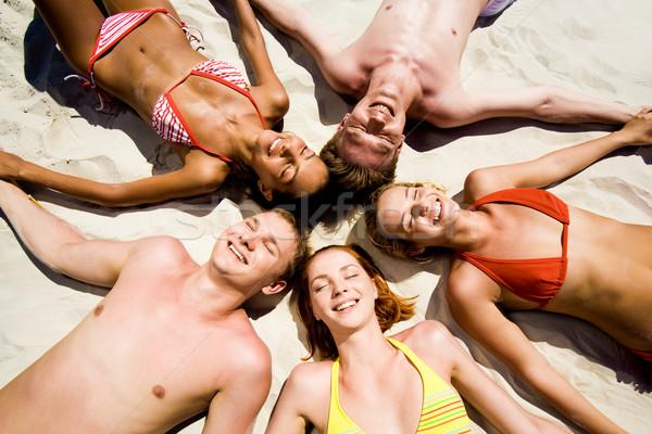 Zdjęcia stock: Przyjemność · obraz · kilka · nastolatków · piasku
