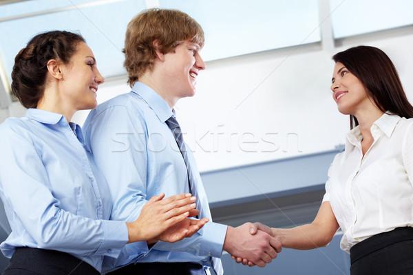 Shaking hands Stock photo © pressmaster