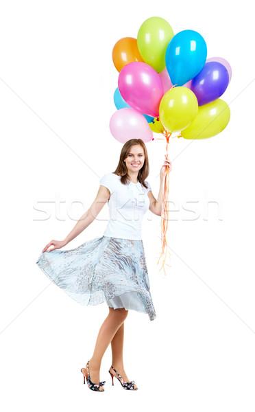 Festività palloncini isolato bianco modello Foto d'archivio © pressmaster