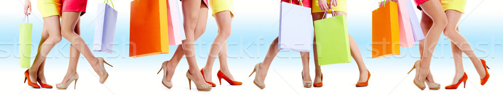 Legs of shoppers Stock photo © pressmaster