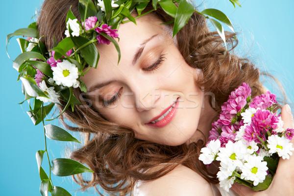 Flower woman Stock photo © pressmaster