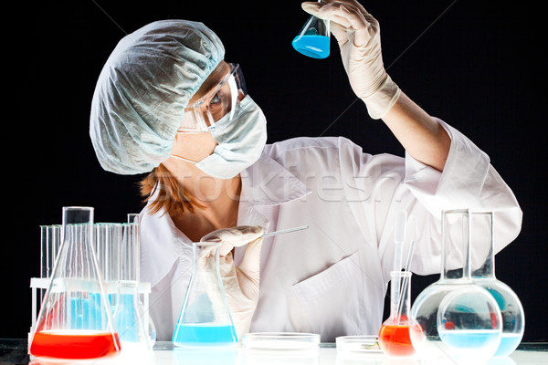 Biochemical investigation Stock photo © pressmaster