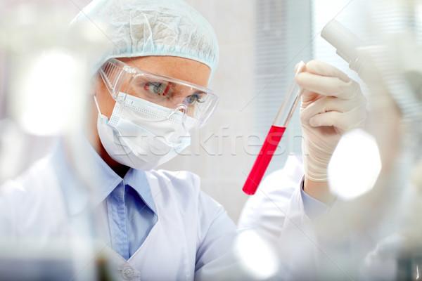 Foto stock: Novo · medicina · feminino · químico · pessoa · líquido