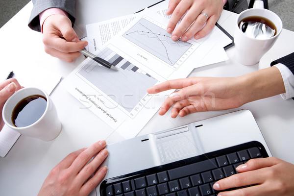 Stockfoto: Discussie · handen · bespreken · nieuwe · vergadering