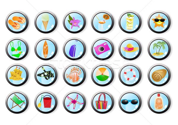 vacation-web-icons     Stock photo © pressmaster