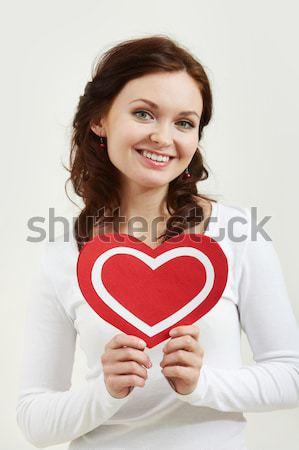 Stockfoto: Tonen · hart · portret · gelukkig · man