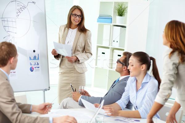 Briefing top manager permanente Stockfoto © pressmaster