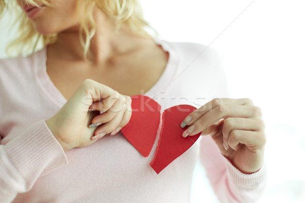 Woman with broken heart Stock photo © pressmaster