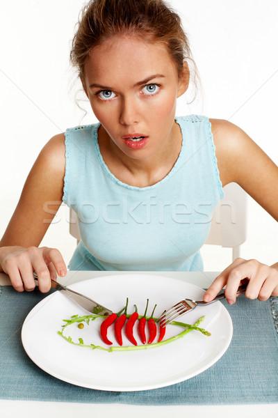 пряный вертикальный портрет девушки диета Сток-фото © pressmaster