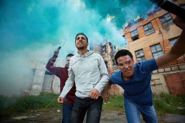 Retrato furioso rebelde gueto Foto stock © pressmaster