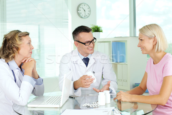Offering vitamins Stock photo © pressmaster